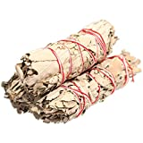 White Sage Smudge Sticks – Each Stick Approx. 4″ Long – Pack of 3