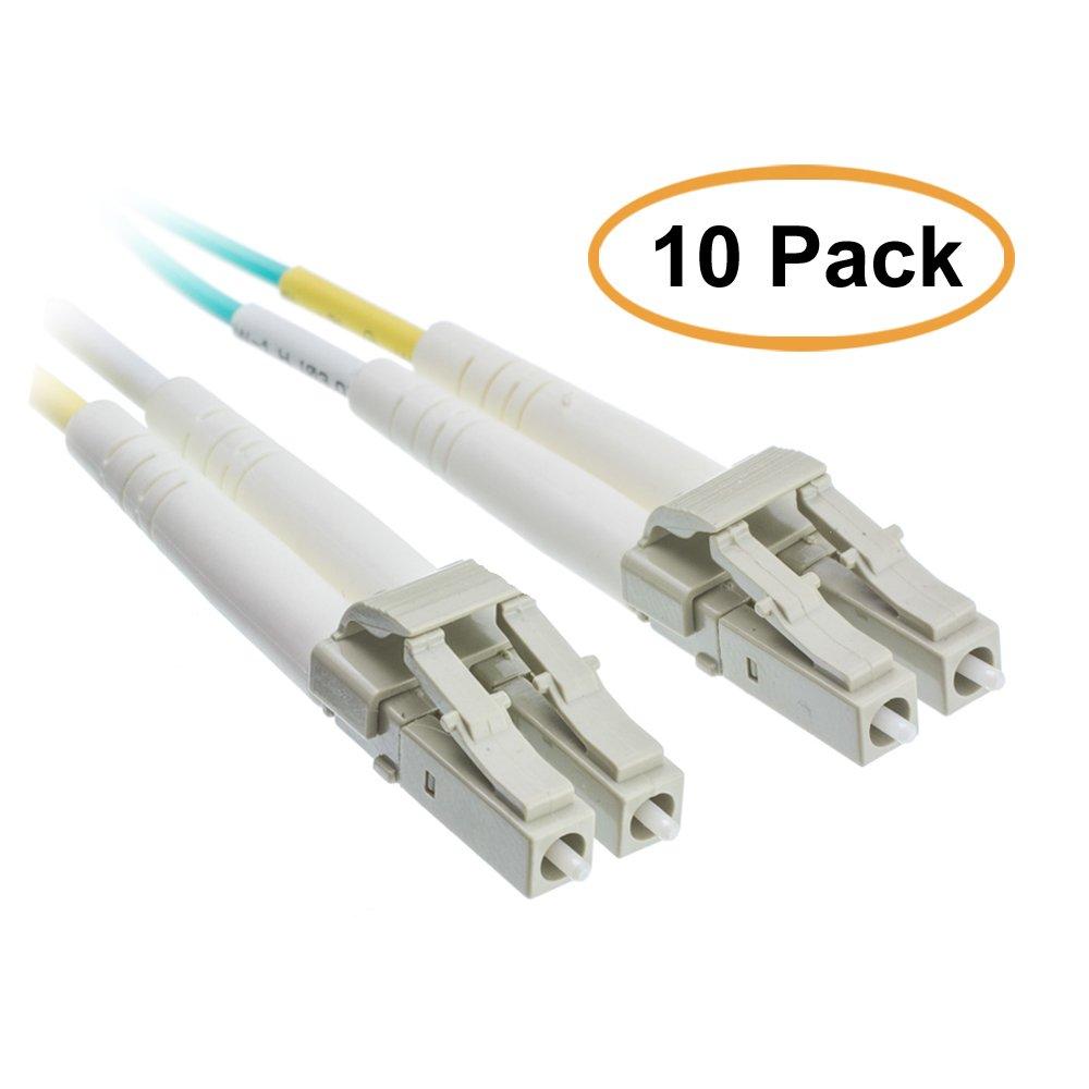 ACL 3.28フィート( 1メートル) LC to LC 10ギガビットAqua光ファイバーケーブル、マルチモード、デュプレックス、50 / 125 16.4 Feet ACL-714819 B071V9G37L  16.4 Feet