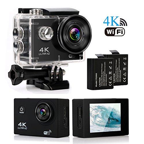 1080p H.264 30fps Full HD Waterproof Wi-Fi Sports Camera (Black) - 2