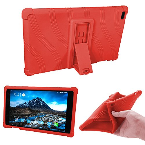 Lenovo TAB 4 8 Kids Case - [Kids Friendly] Light Weight [Anti Slip] Shock Proof Protective Cover for Lenovo TAB 4 8 TB-8504F TB-8504N Tablet,Light Blue (Red)