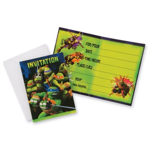 ninja turtle birthday invitations - 5