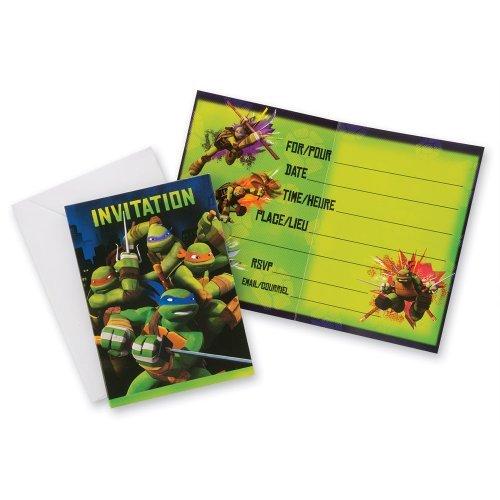 Teenage Mutant Ninja Turtles Invitations - Teenage Mutant Ninja Turtles Invitations - Birthday & Theme Party Supplies - 8 per pack