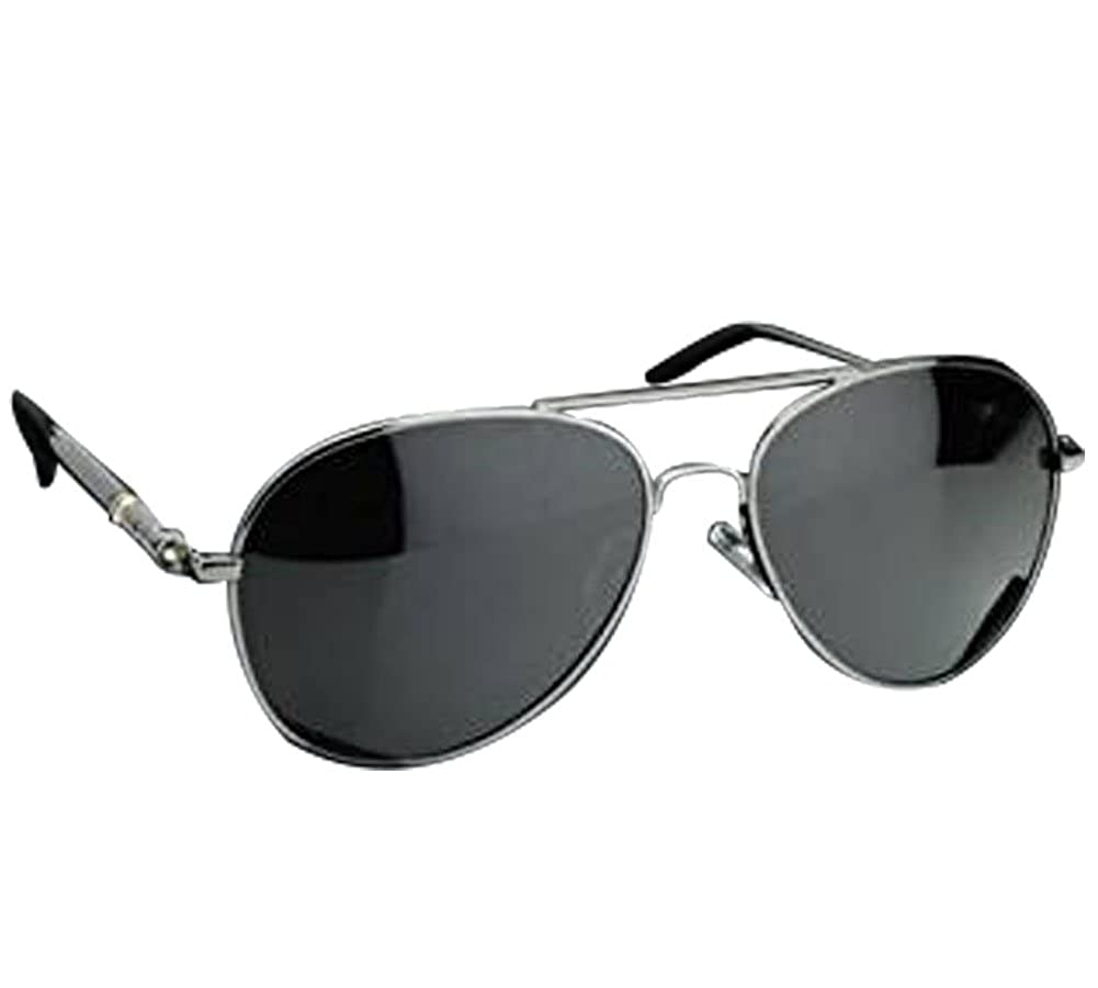 0acbe895d3 Amazon.com  Silver New Mens Aviator Sunglasses Polarized Outdoor Driving  Mirror Fishing Glasses HU  Clothing