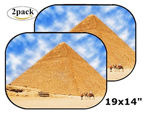 MSD Car Sun Shade Side Window Sunshade Auto 19 x 14 Universal Fit 2 Pack, Block Sun Glare, UV and Heat, Protect Car Interior, Image ID: 7662281 Pyramids in Egypt