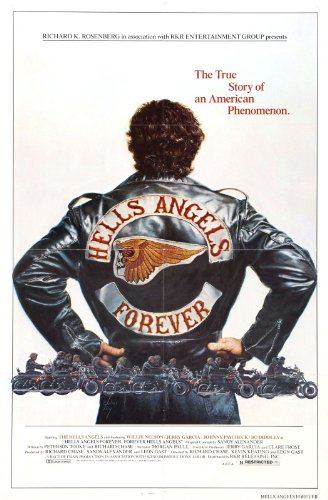 HELLS ANGELS FOREVER Movie Poster RARE Exploitation Film Bikers 24x36inch