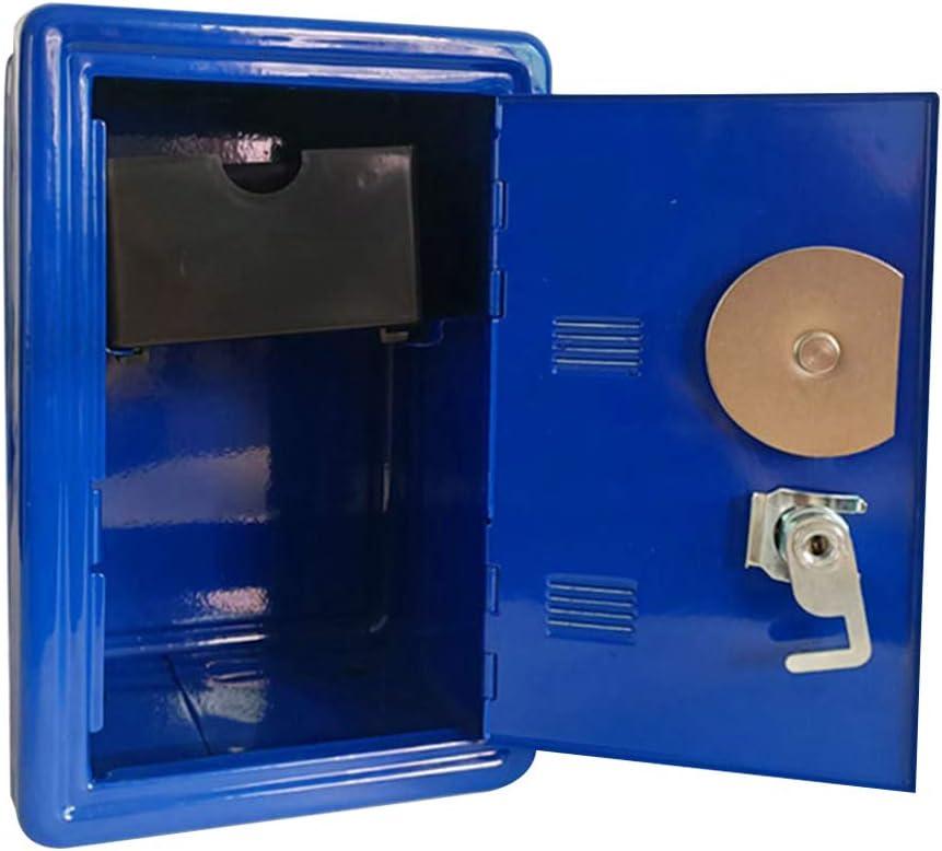 Ganquer Cadeaux Coffre-Fort Mot De Passe avec Clef en M/étal Tirelire Stockage Maison Ornement Mini ATM Money Case Exquis Motif De Roue Conception