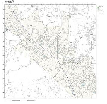 Amazon.com: ZIP Code Wall Map of Murrieta, CA ZIP Code Map ...