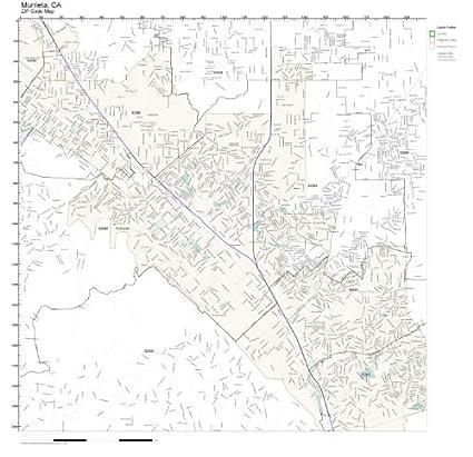 Amazon Com Zip Code Wall Map Of Murrieta Ca Zip Code Map Laminated