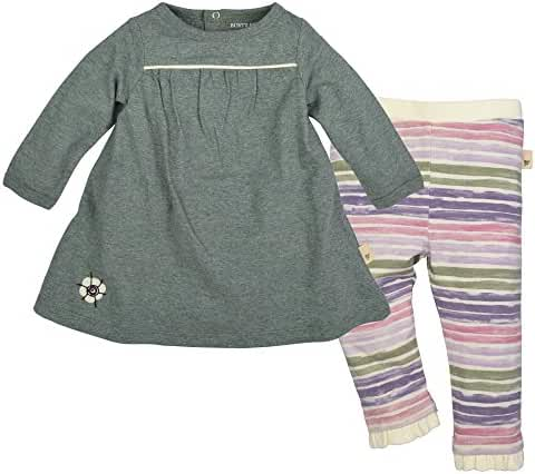Burt's Bees Baby Baby Organic Long Sleeve Dress with Footless Pant