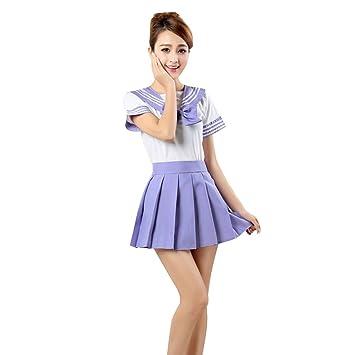 JINZFJG Uniforme Escolar Marinero de Japón Mujeres Disfraz Traje ...