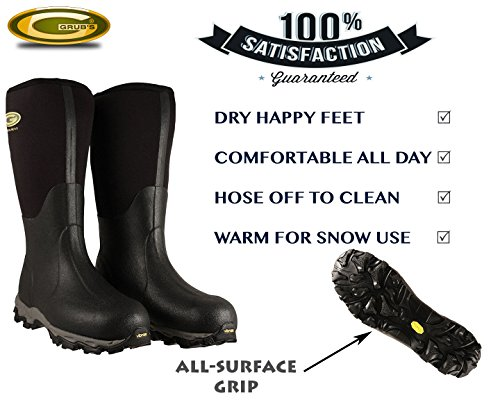 Grubs Waterproof Boots For Men and Women | Perfect For Muck, Mud & Rain | Warm To -40°