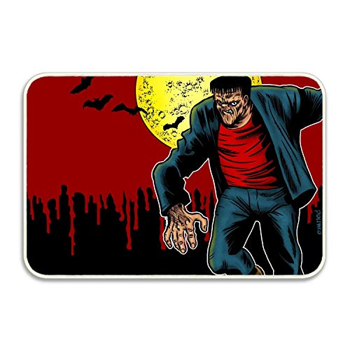 Niaocpwy Camping Door Mat Holiday Halloween Entrance Mat