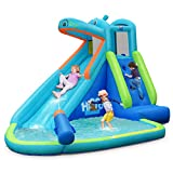 BOUNTECH Inflatable Water Slide, Hippo Themed