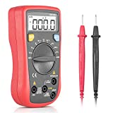 SYNERKY DM136B Digital Multimeter Professional Portable Electrical Tester with Dual Fuses, AC/DC Voltage Tester, DC Current, Resistance, Continuity Electronic Measuring Tool