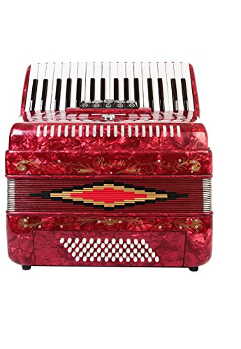 Rossetti Piano Accordion 72 Bass 34 Keys 5 Switches Red by Rossetti