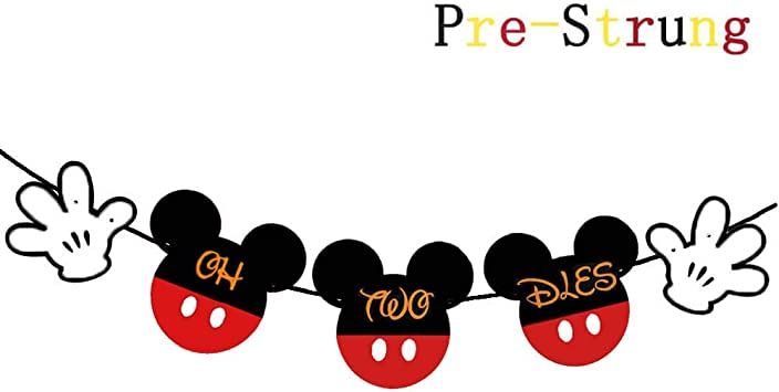 Amazon.com: Mickey Mouse Oh Twodles Banner, Classic Mouse ...
