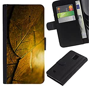 LASTONE PHONE CASE / Lujo Billetera de Cuero Caso del tirón Titular de la tarjeta Flip Carcasa Funda para Samsung Galaxy Note 4 SM-N910 / krysha krovlya sloy list