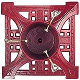 John Wright Company  JWR61701 Cast Iron Heirloom Christmas Tree Stand, Red