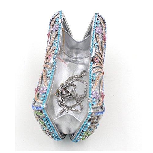 Bolso De Diamante De Alta Calidad Del Diamante De Las Mujeres Bolso De Mano De Lujo Del Diamante F