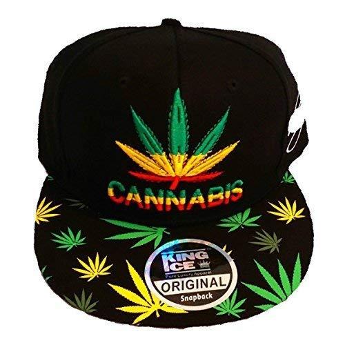 de marihuana con plantas con de plana King visera CANNABIS Gorra diseño Ice de unisex 8gq6Uxn