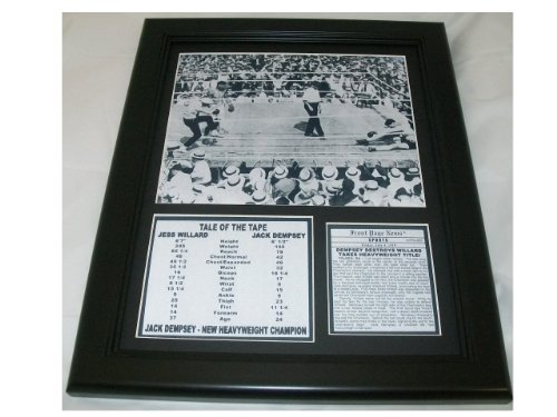 11X14 FRAMED JACK DEMPSEY 8x10 PHOTO WINS TITLE 1919 + MORE Jack Dempsey Memorabilia