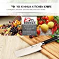 Vegetable Japanese Chef Knife - 7Inch -Cutter-Slicer-Cleaver with Stand- Stainless High Carbon Steel - Professional Quality Cutlery - Multipurpose Use Best for Home Kitchen or Restaurant (In Gift Box)