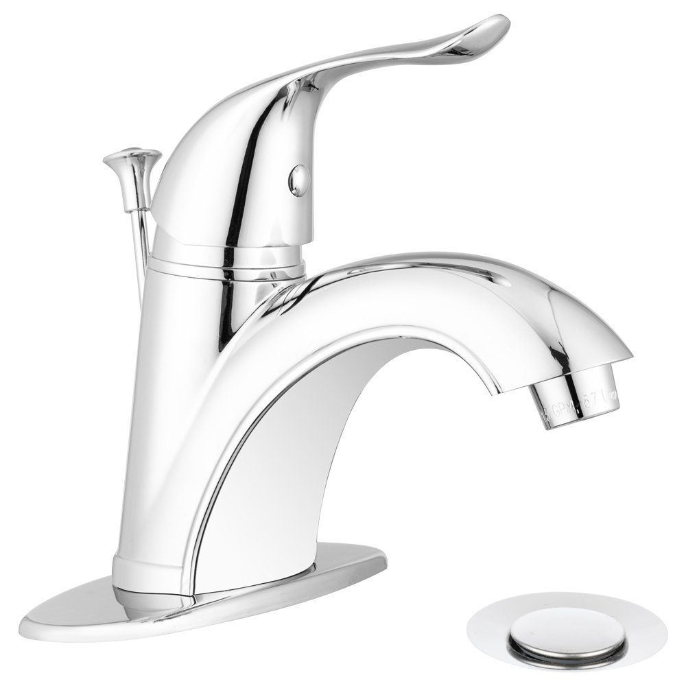 Quincy Bathroom Faucet Featuring a Single Lever, Arc Spout, and a ...