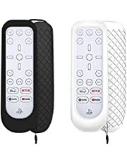 3 in 1 for PS5 Media Remote Cover, Protective Skin for Sony Playstation Media Remote with Hand Strap, Shockproof, Anti-Slip, Washable, Skin-Friendly - ZEYA (Black/White)