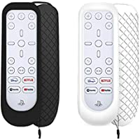 3 in 1 for PS5 Media Remote Cover, Protective Skin for Sony Playstation Media Remote with Hand Strap, Shockproof, Anti…