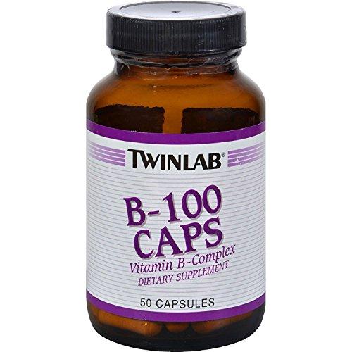 Twinlab B-100 50 Caps (TwinLab - B-100 Caps, 100 mg, 50 capsules)