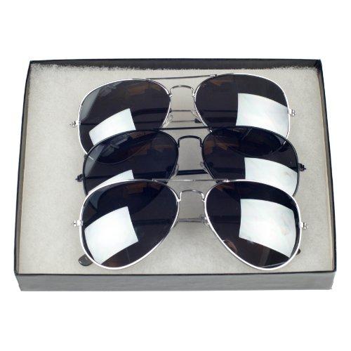 Classic Tear Drop Mirror Lens Aviator Sunglasses