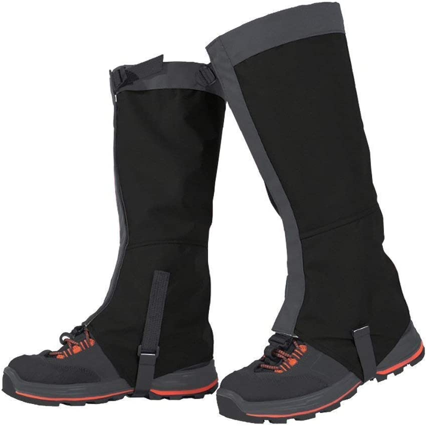 Leg Gaiters Waterproof Snow Boot Gaiters 600D Anti-Tear Oxford Fabric for Outdoor Hiking Walking Hunting Climbing Mountain