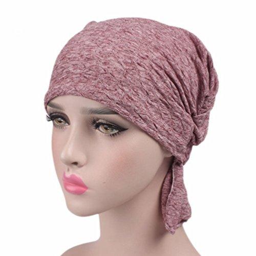 Womens Cotton Turban Headwear Chemo Beanie Cap for Cancer Patients Hair Loss