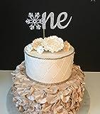 One Snowflake Birthday Cake topper: SILVER