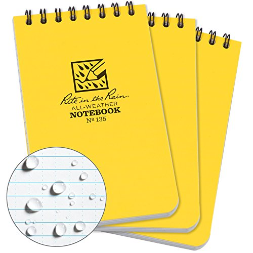 Rite in the Rain All-Weather Top-Spiral Notebook, 3