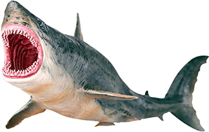 US Tiger Megalodon Figure Shark Animal PVC Model Toy Collector Kid Education