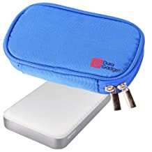 DURAGADGET Blue Memory Foam Case With Dual Zip For Buffalo MiniStation Thunderbolt 1TB USB 3.0 Portable Hard Drive & Ministation Air 500GB USB 3.0 & Wireless Portable Storage