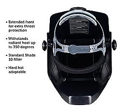Jackson Safety 14975 W10 HSL 100 Black Passive Welding Helmet, 5-1/4\