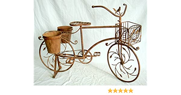 Maceta Macetero bicicleta soporte de macetas cesta para plantas de ...