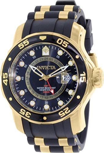Invicta Men's 6991 Pro Diver Quartz Gmt Black Dial Watch