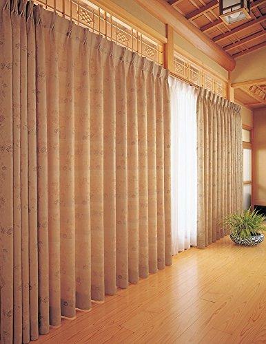 東リ 着物の柄を思わせる雅な色柄 カーテン1.5倍ヒダ KSA60167 幅:200cm ×丈:190cm (2枚組)オーダーカーテン   B077TBTR3T