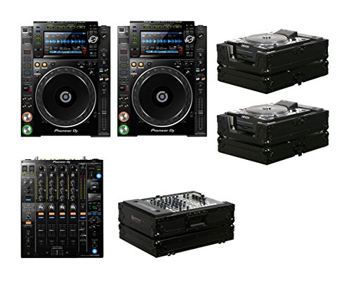 2x Pioneer CDJ-2000NXS2 + DJM-900NXS2 + Black Label Cases