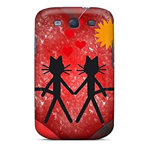 Quality MeSusges Case Cover With Cat Kittycat Love Nice Appearance Compatible With Galaxy S3