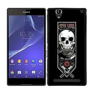 Funda carcasa para Sony Xperia T2 diseño lord fondo negro SW borde negro