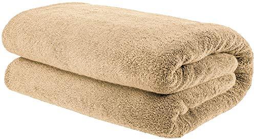 American Bath Towels, 40x80 Soft & Absorbent 650 GSM Premium Hotel & Spa Quality Oversized Organic Turkish Cotton Bath Sheet Towel, Sand Taupe
