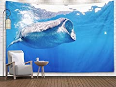 Product DescriptionThe moon tapestry adds a touch of interest to your room,a good choice for home decoration.Features:Size: 150×130cmMaterial:100% Polyester,skin-friendly and durableBeautiful pattern design, bright colors, clear lines and exq...