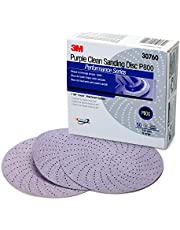 "3M 30760 Hookit 334U Purple 6"" P800 Grit Clean Sanding Disc"