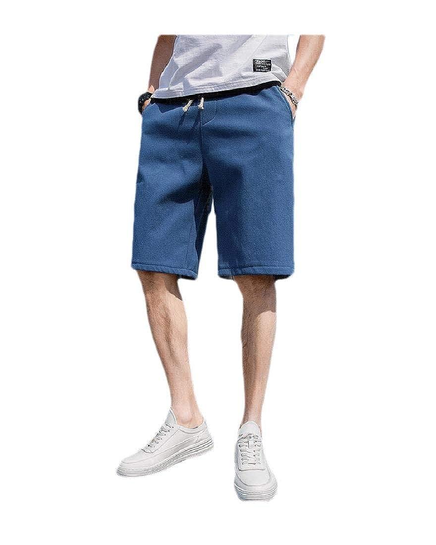 Zimaes-Men Sport Pocket Short Pant Loose Fit Summer Beach Board Shorts
