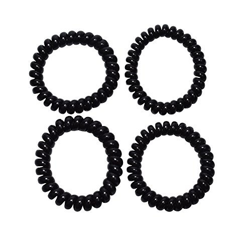 Spiralz Chewable Fidget set of 4 Bracelets Calming for Autism, ADHD, Sensory Processing, Special Needs, Sensory Motor Needs for Boys and Girls- Youth-sized, For Light Chewers Only- by chubuddy (Black) by CHU-BUDDY