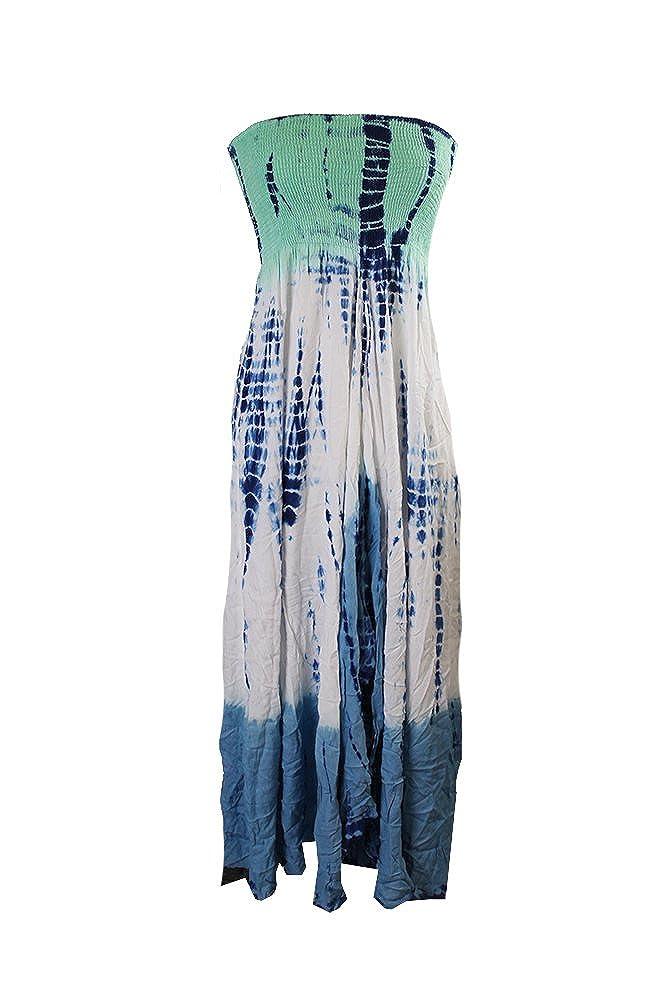 b3933f9a9de Raviya Tie-Dye Maxi Dress Cover-Up Women's Swimsuit - Green -: Amazon.co.uk:  Clothing